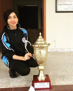Hiba with trophy