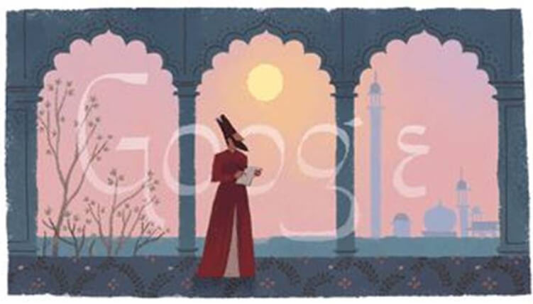Mirza Ghalib in Googel Doodle