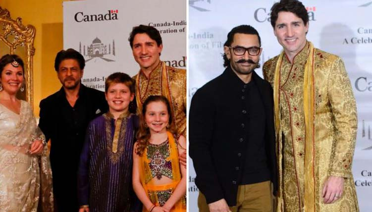 Canadian Prime Minister Justin Trudeau meets Bollywood superstars