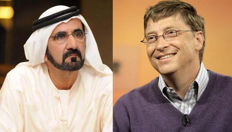 Bill Gates thanked Sheikh Mohammed