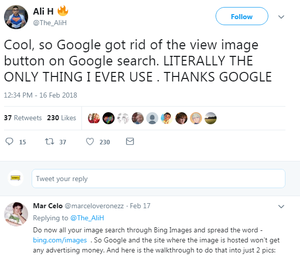 view image button