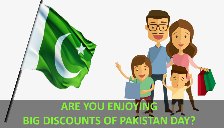 PAKISTAN DAY DISCOUNTS