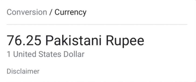 doller to pkr