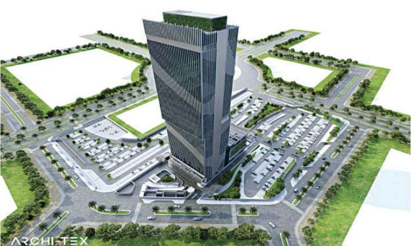 45 floor building in lahore