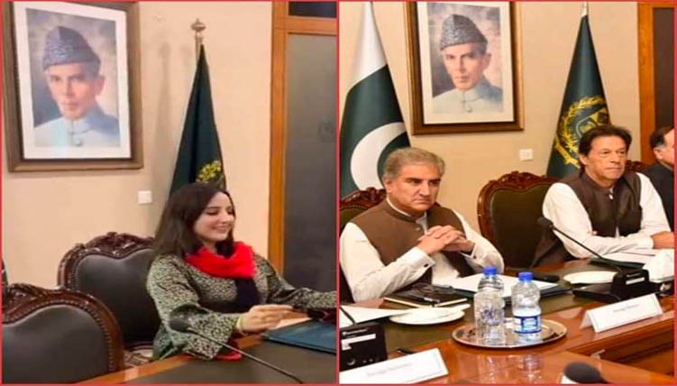 hareem shah in foreign ministry office
