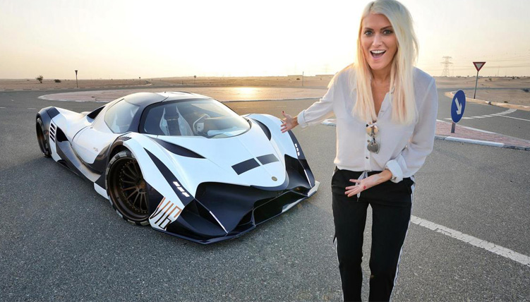 Supercar Blondie with car